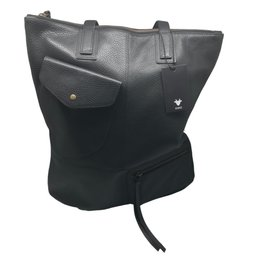 Kiko Leather Kiko - Black Fold n Hold Tote-721