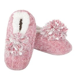 Me Moi MeMoi - Cable Knit Pompom Slipper