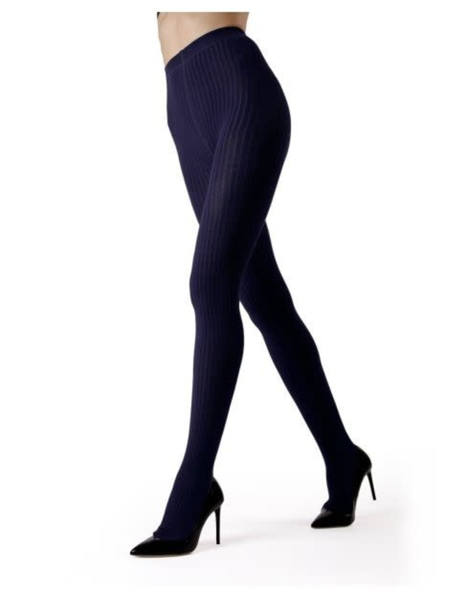MeMoi - Ribbed Cotton Tights