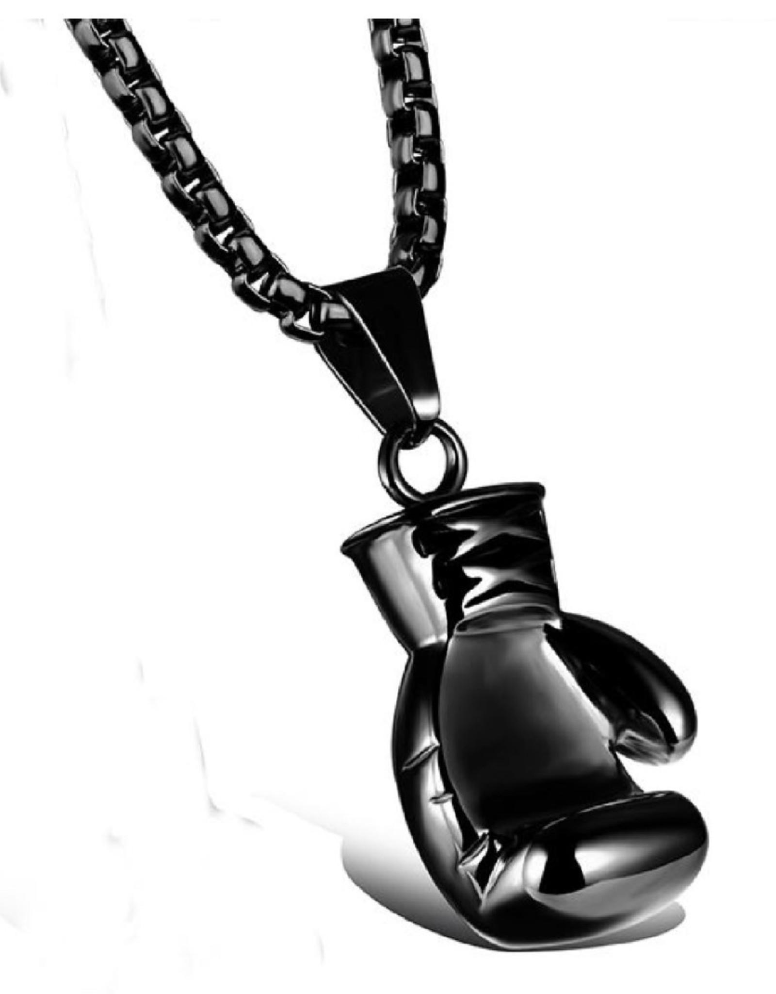 Guangzhou Nuevoenergia Jewelry Co. Black Boxing Glove Pendant w/Chain