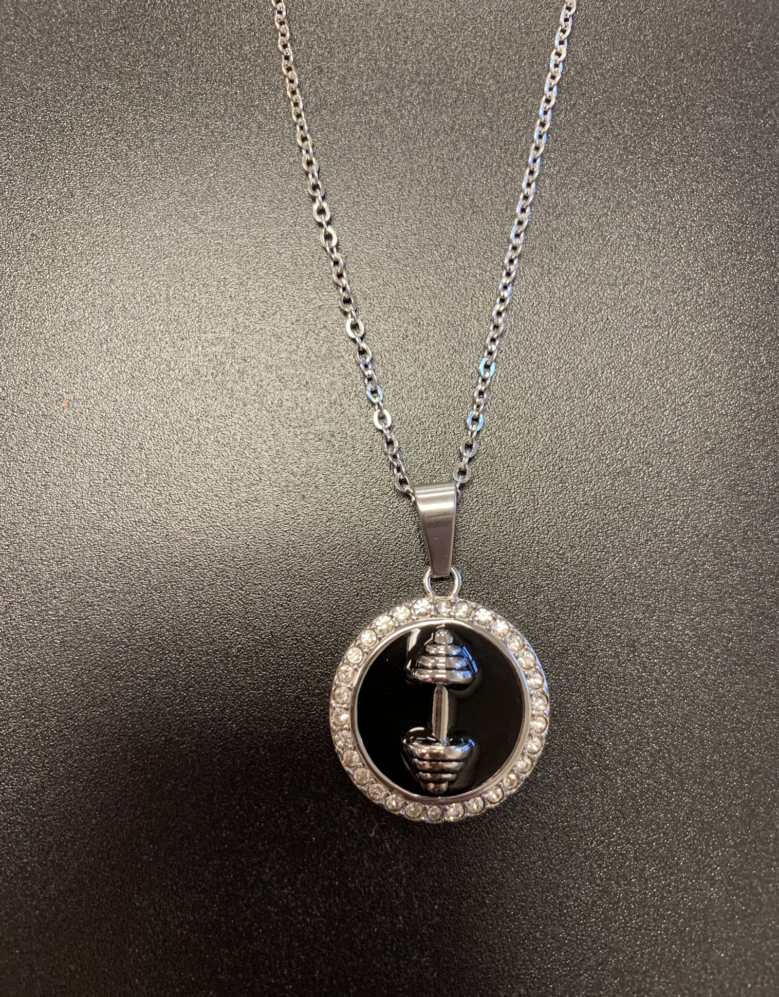 Marlary Jewelry Barbell Circle Necklace