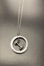 Marlary Jewelry Fearless Dumbbell Necklace