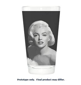 Pretty Strong Marilyn Monroe Gray Painting Pint Glass
