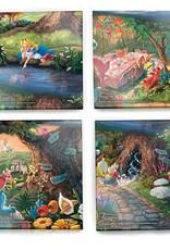 Pretty Strong Alice In Wonderland Glass Coaster Set