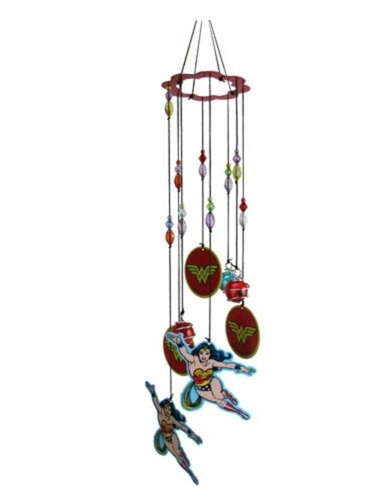 Pretty Strong Wonder Woman Figural Metal Wind Chimes