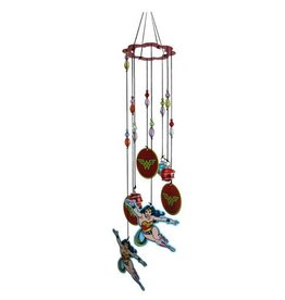 Wonder Woman Figural Metal Wind Chimes