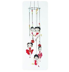 Pretty Strong Betty Boop Red Dress Metal Wind Chimes