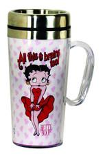 Pretty Strong Betty Boop Brains Travel Mug