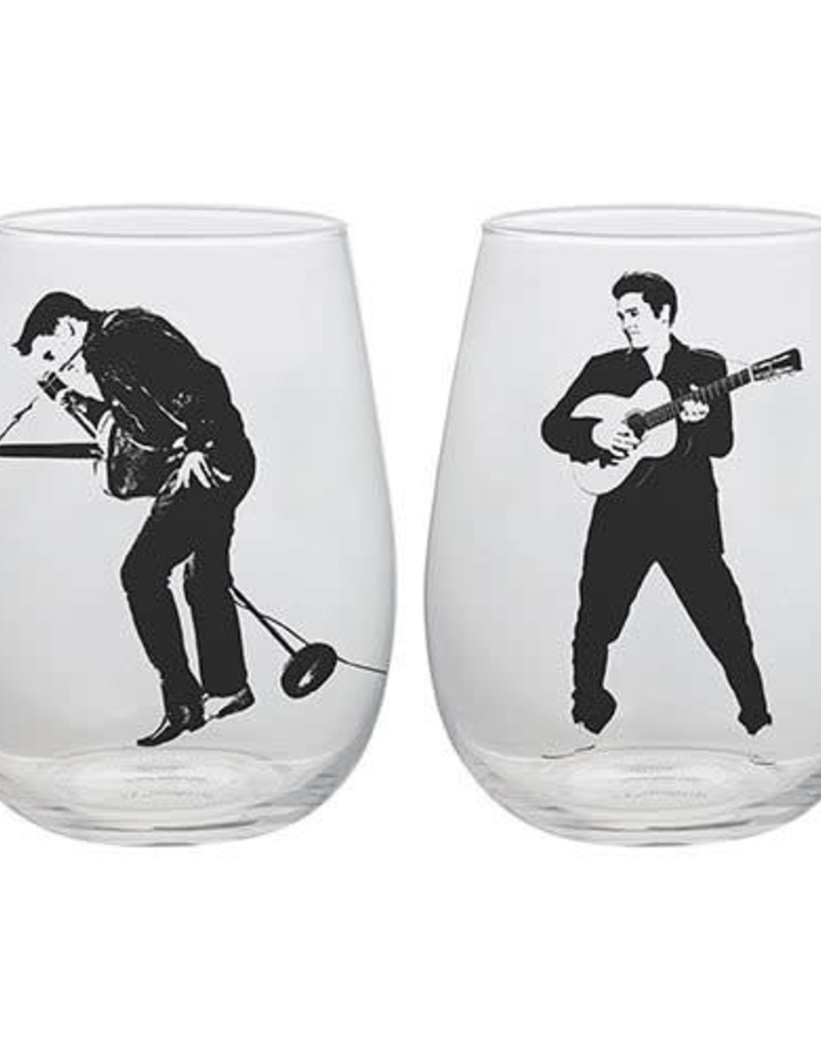 Pretty Strong Elvis Dancing Glass Tumblers