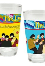 The Beatles Yellow Submarine 16 oz Laser Decal Glass