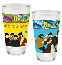 Pretty Strong The Beatles Yellow Submarine 16 oz Laser Decal Glass