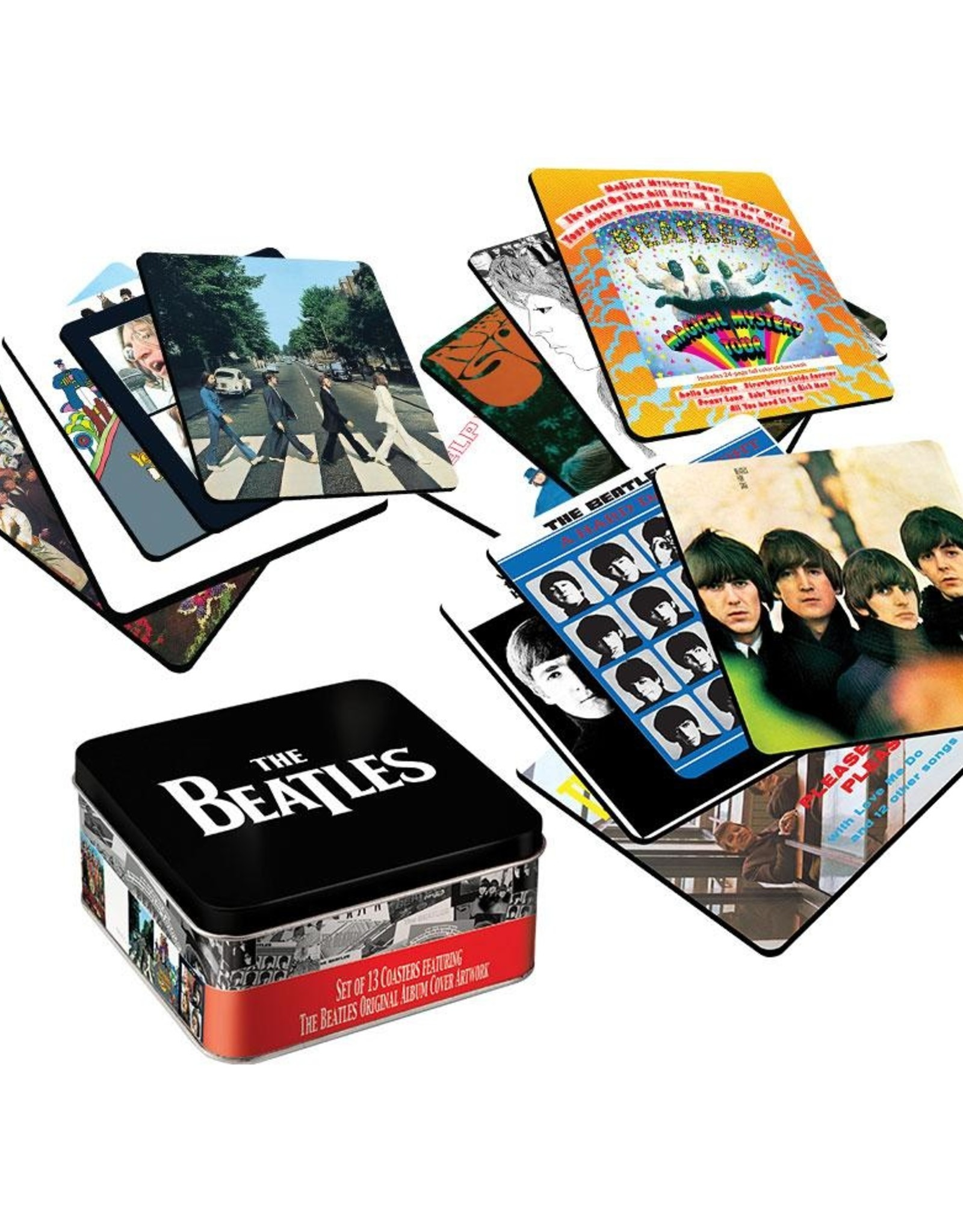 Pretty Strong Beatles Coaster Set with Collector's Tin