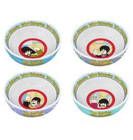Beatles Yellow Submarine 4 pc. 6 in. Ceramic Bowl Set