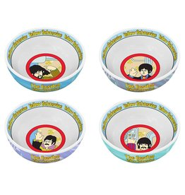 Pretty Strong Beatles Yellow Submarine 4 pc. 6 in. Ceramic Bowl Set