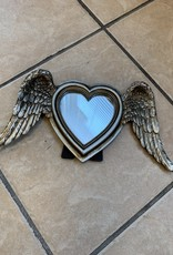 Pretty Strong Winged Down Heart Mirror