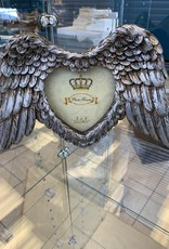 Pretty Strong Winged Down Heart Photo Frame