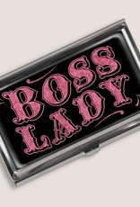 Pretty Strong Boss Lady Business Card Holder