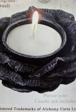 Pretty Strong Black Rose Tealight Holder