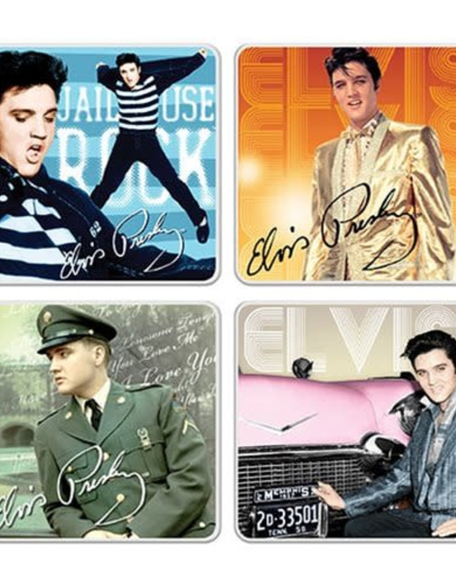 Pretty Strong Elvis Coasters
