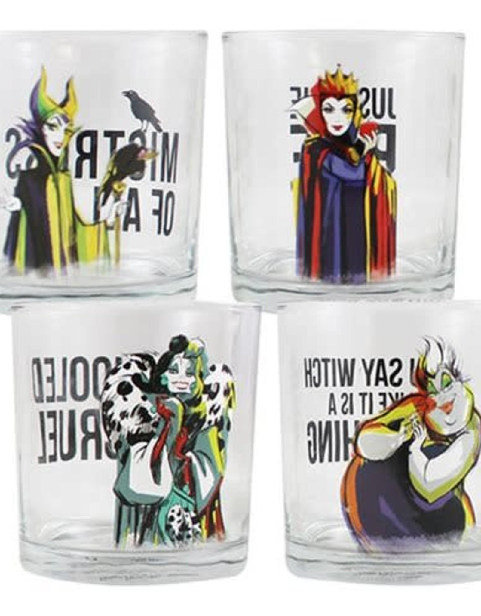 Pretty Strong Disney Villains 10 oz Glasses - Set of 4
