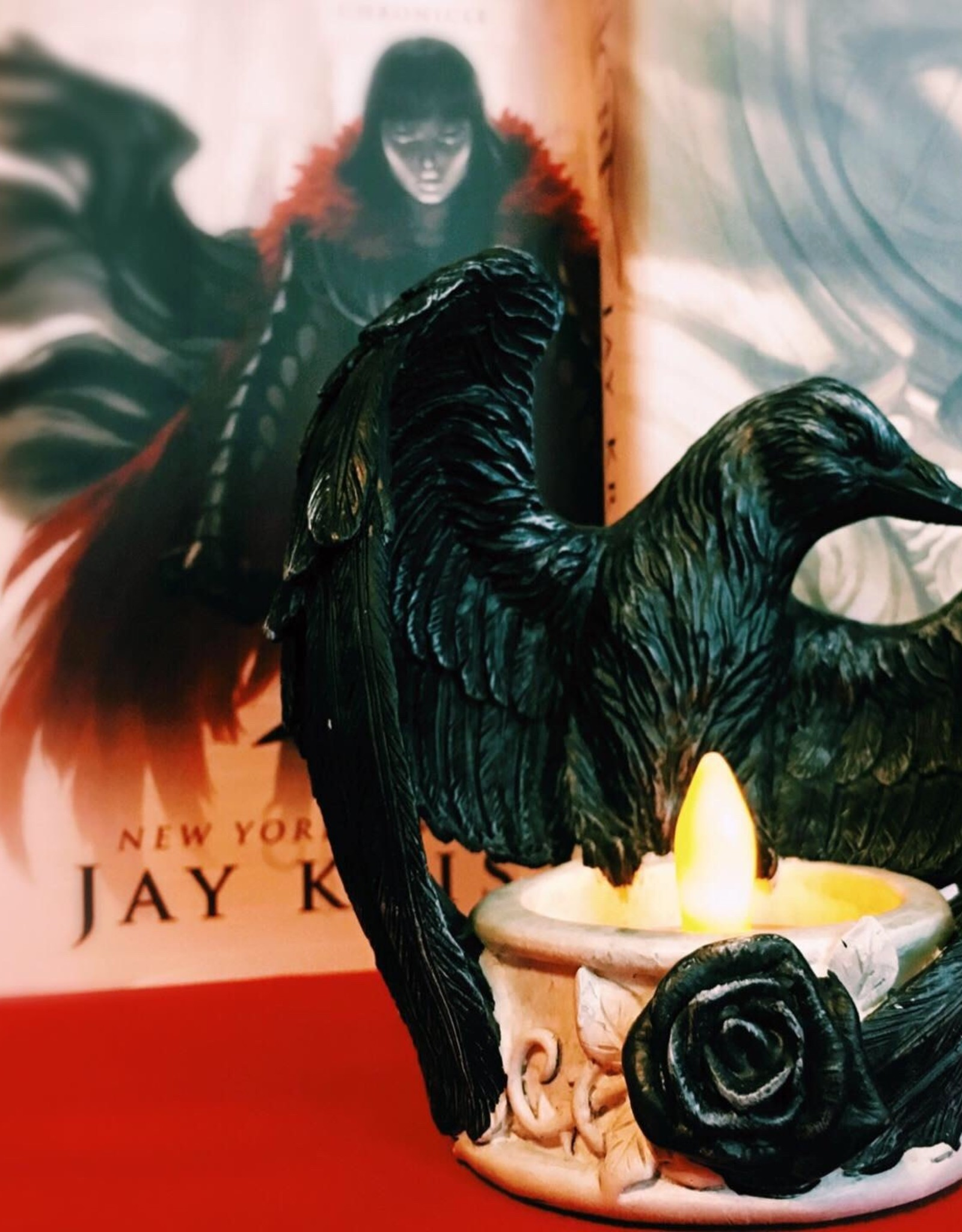 Pretty Strong Raven Candle Holder