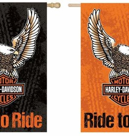 Pretty Strong Harley-Davidson Eagle Flag