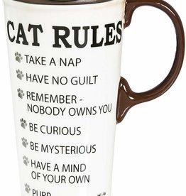Cat Rules Travel Mug w/Box