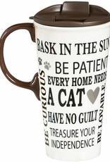 Pretty Strong Cat Rules Travel Mug w/Box