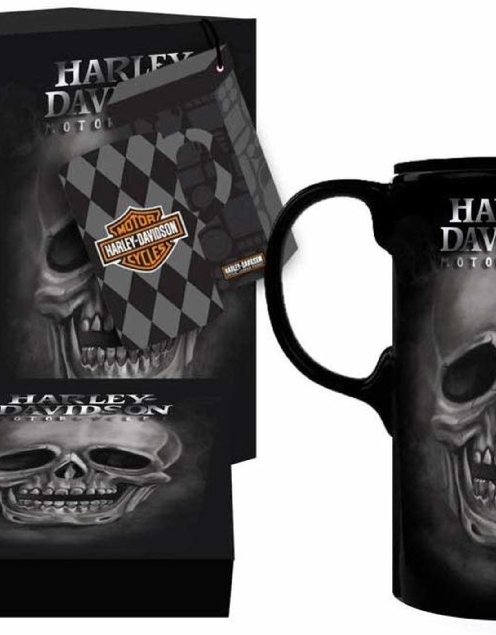 Pretty Strong Harley-Davidson Skull Tall Boy w/Box