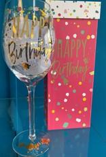 Pretty Strong Happy Birthday Wine Glass