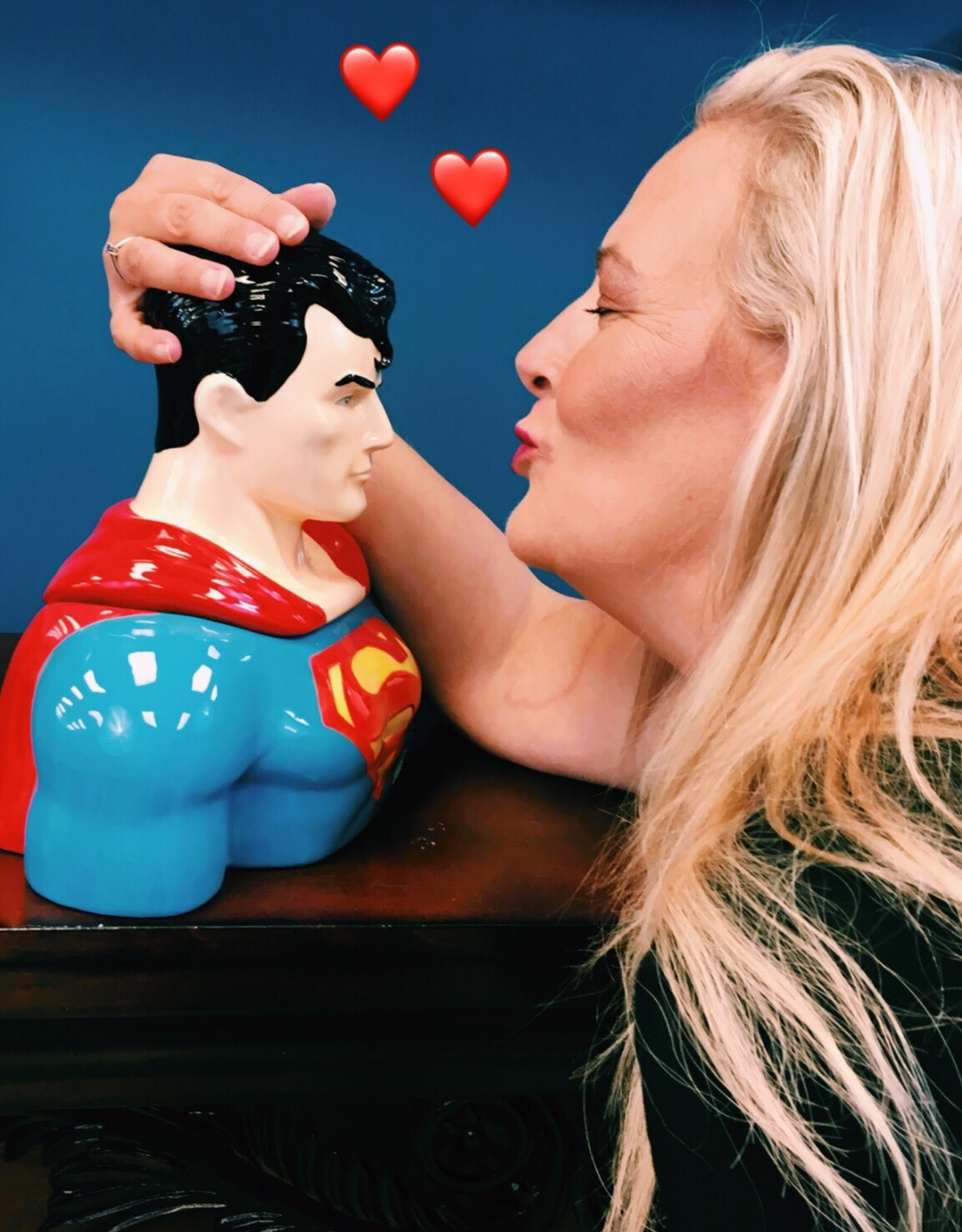 Pretty Strong Superman Cookie Jar