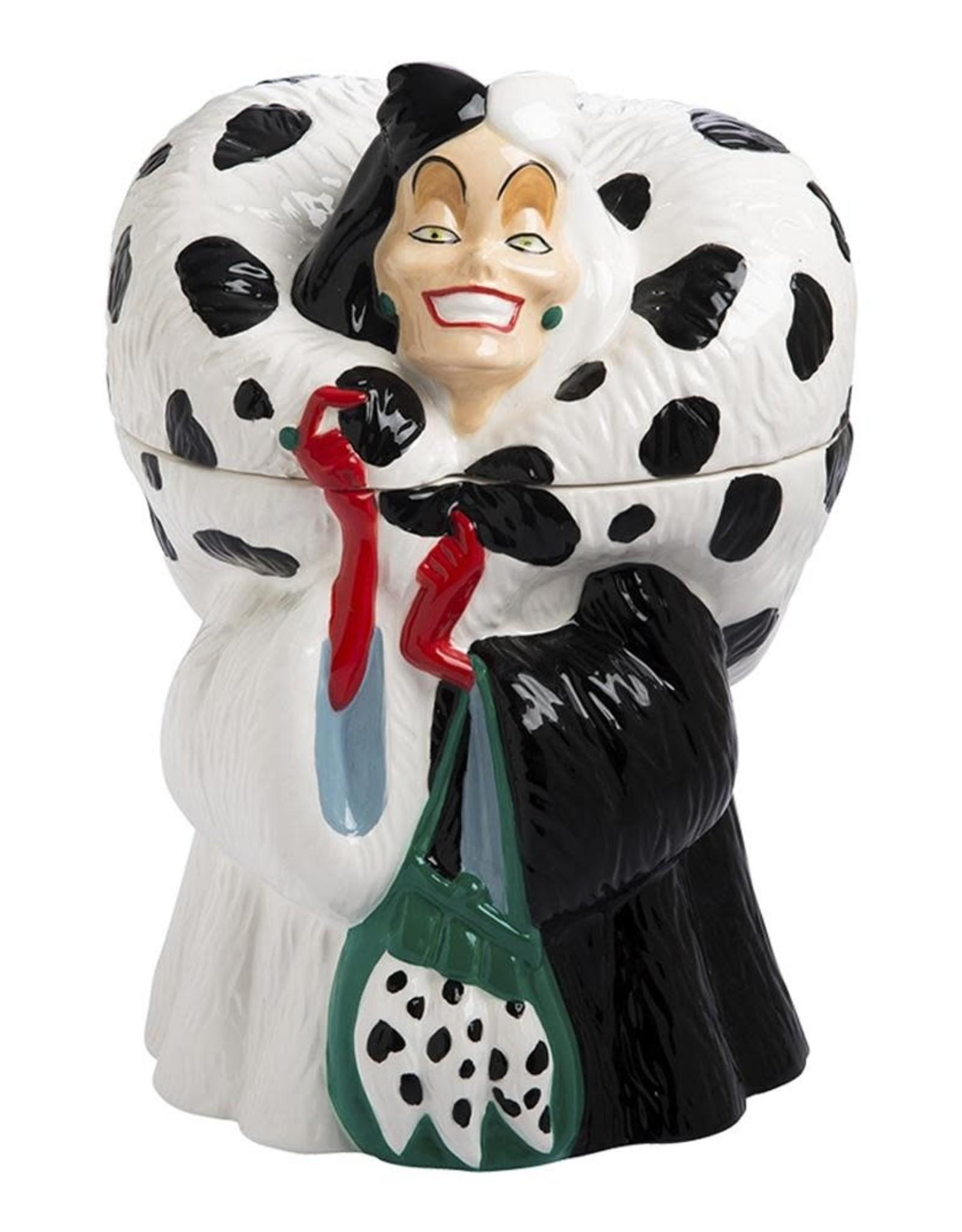Cruella De Vil Sculpted Ceramic Cookie Jar