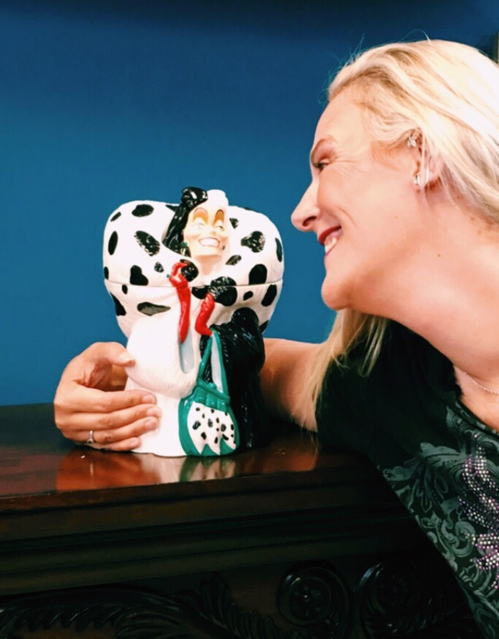 Pretty Strong Cruella De Vil Sculpted Ceramic Cookie Jar