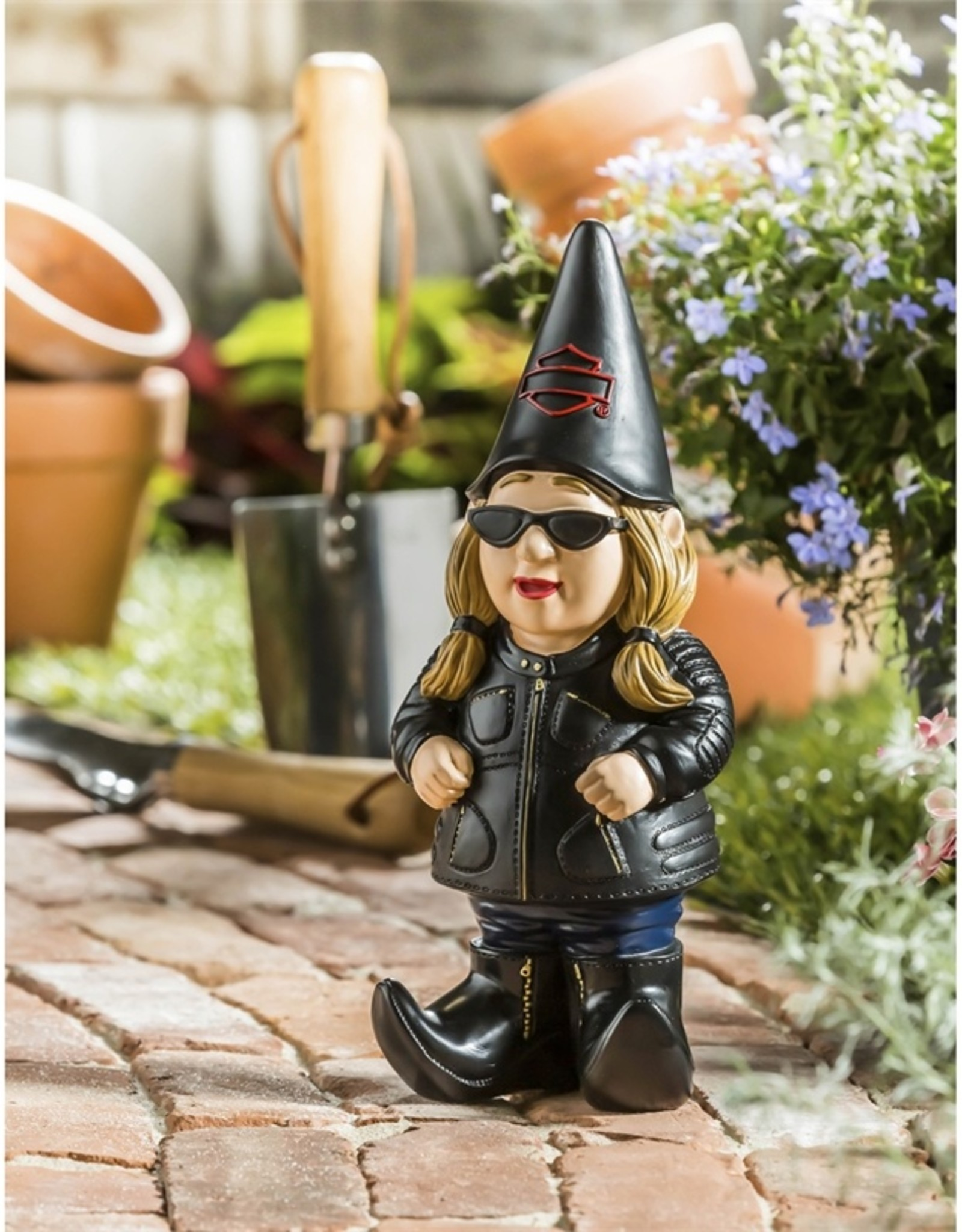 Pretty Strong Harley-Davidson Woman Gnome