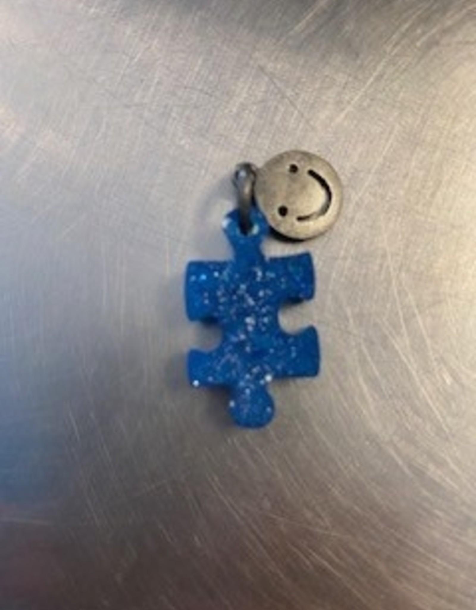 Tawny Kristine Blue Puzzle Piece Pendant