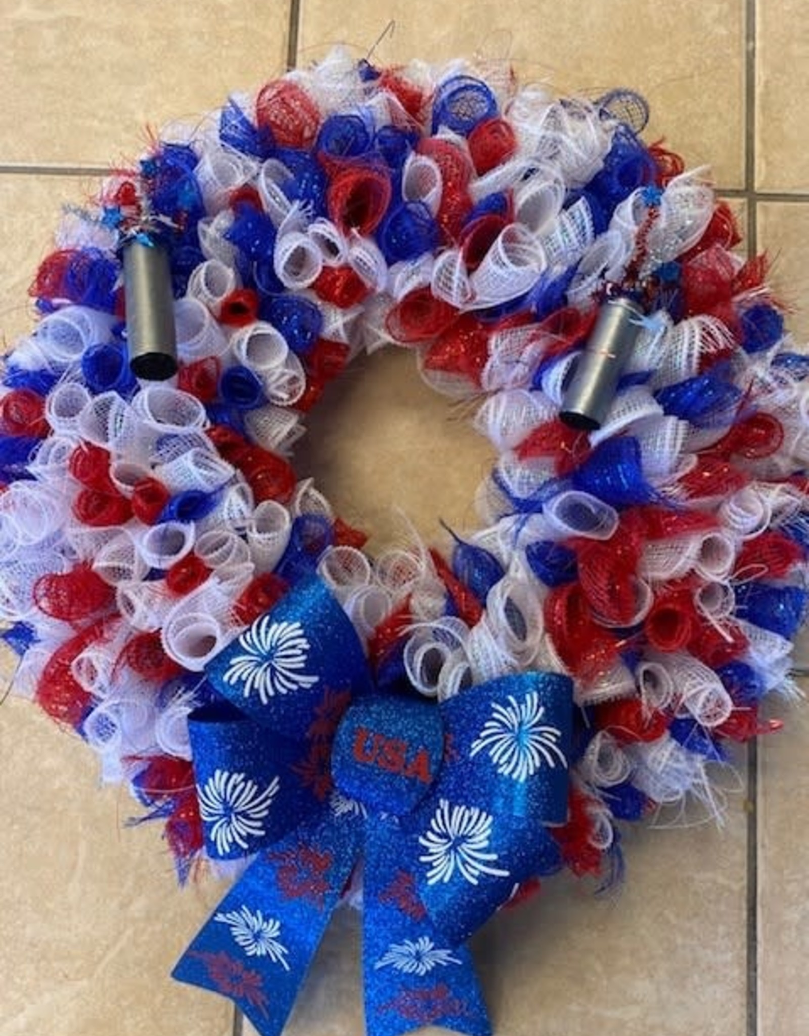 Pretty Strong 4th of July Wreath