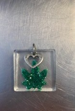 Pretty Strong Square Pot Leaf Pendant