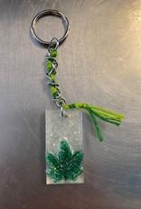 Pretty Strong Pot Leaf Key Chain