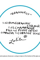 Lolita Dragonfly Wine Stem Glass
