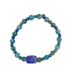 Pretty Strong Blue Stone Bracelet