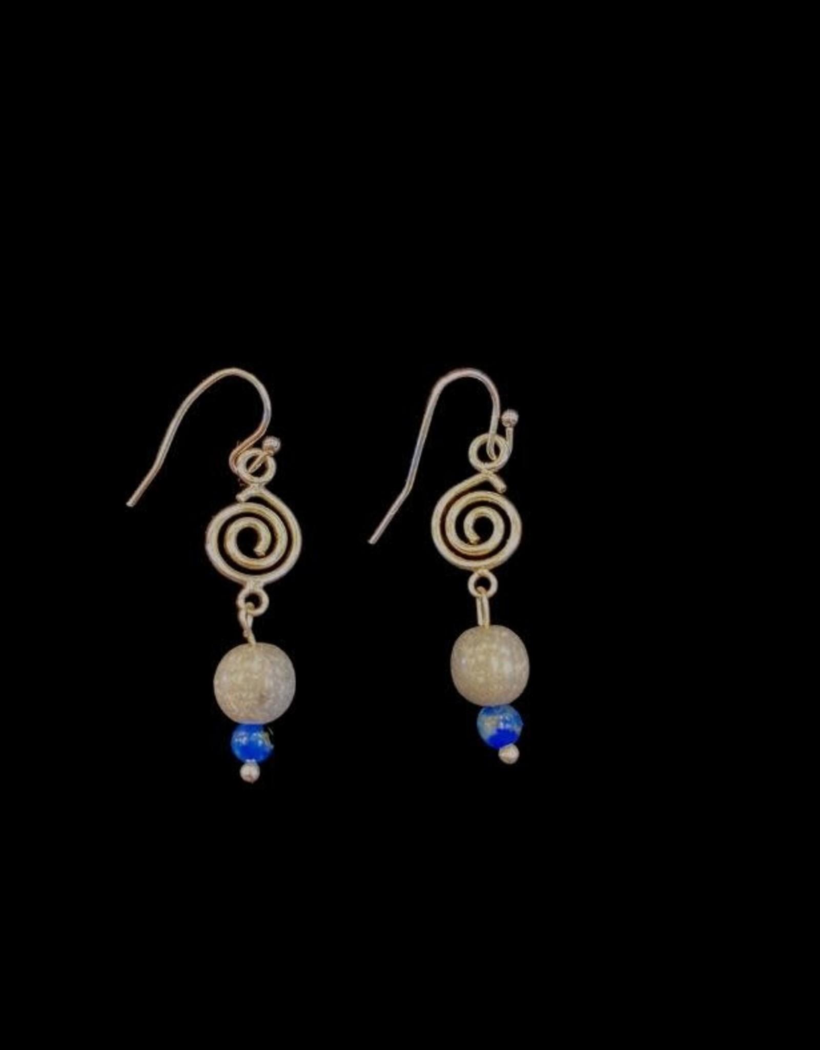 Pretty Strong Gray & Blue Earrings