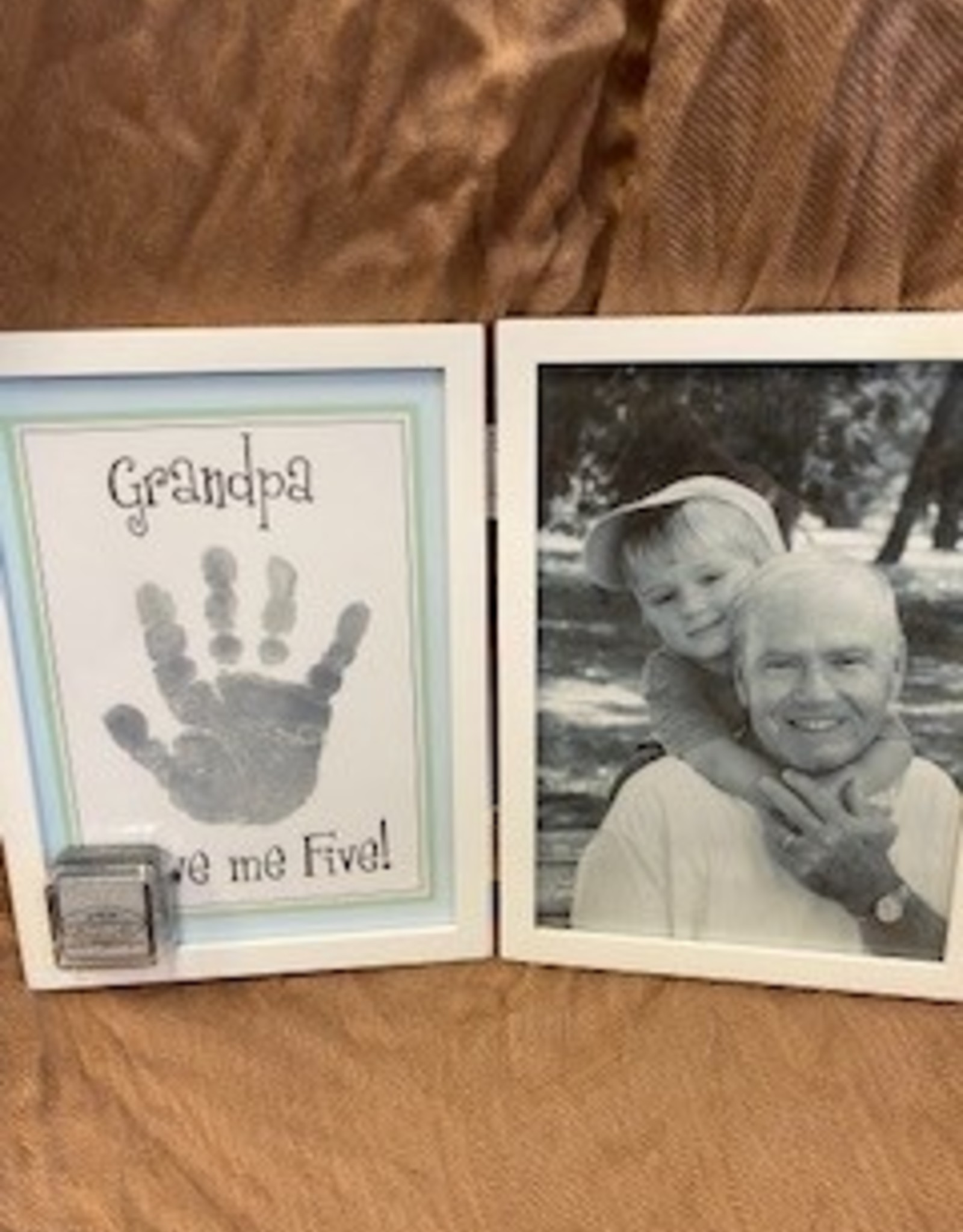 Pretty Strong Grandpa Hinged Handprint & Picture Frame