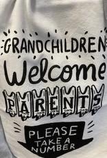 Pretty Strong Grandchildren Welcome Dish Towel
