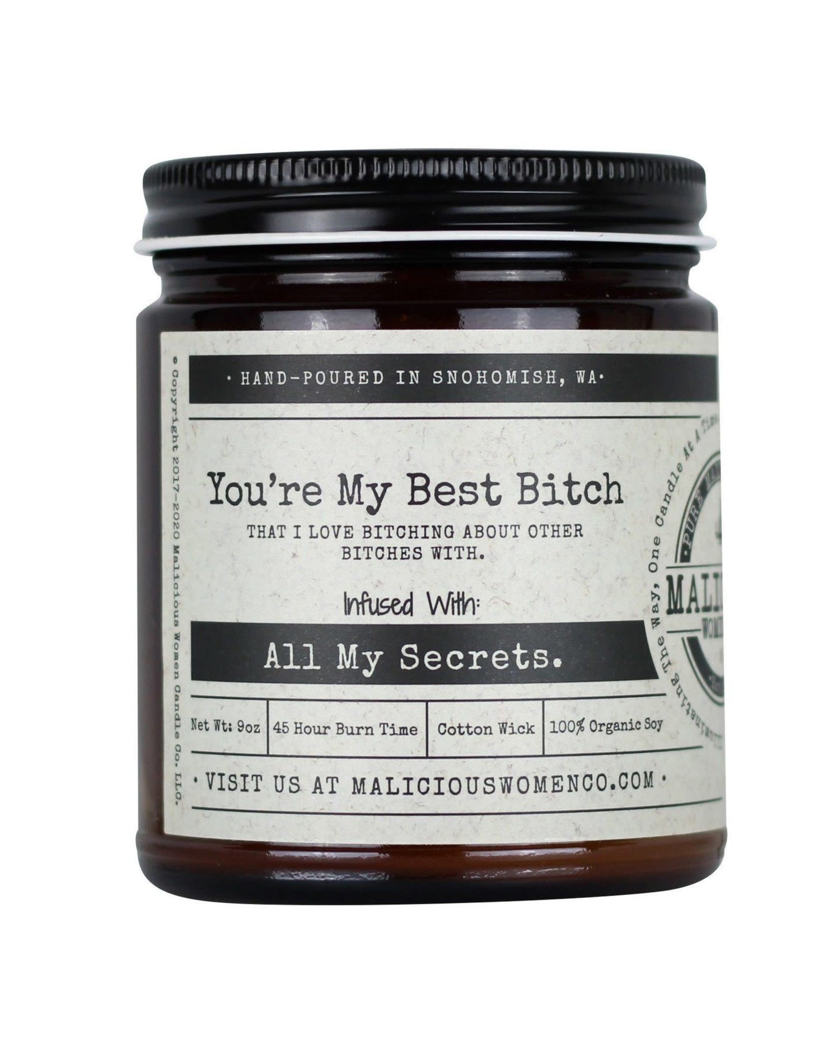 Malicious Women Candle Co. You're My Best Bitch Candle