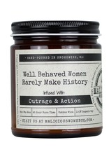 Malicious Women Candle Co. Well Behaved Women Rarely Make History  Candle