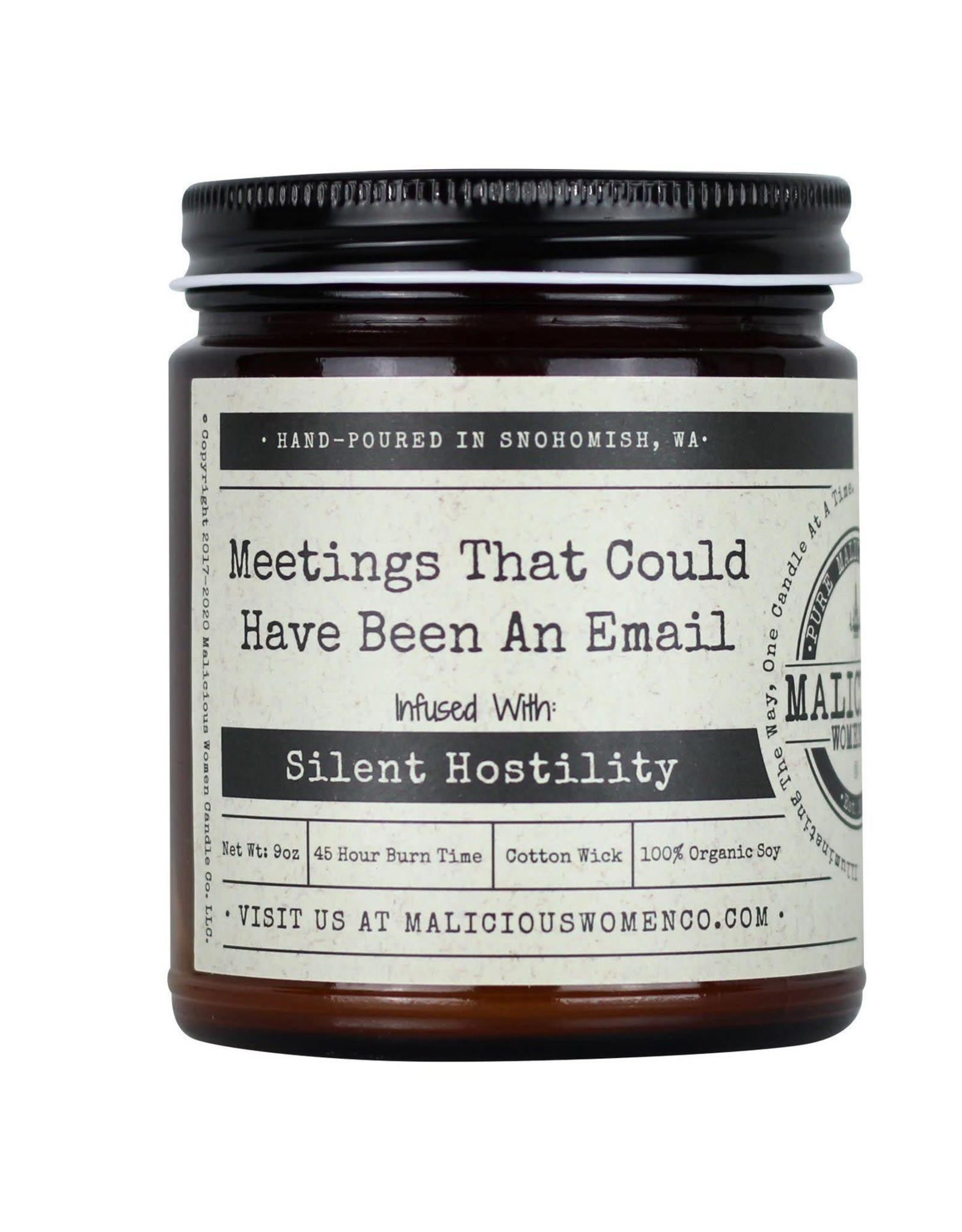 Malicious Women Candle Co. Meetings vs. Email Candle