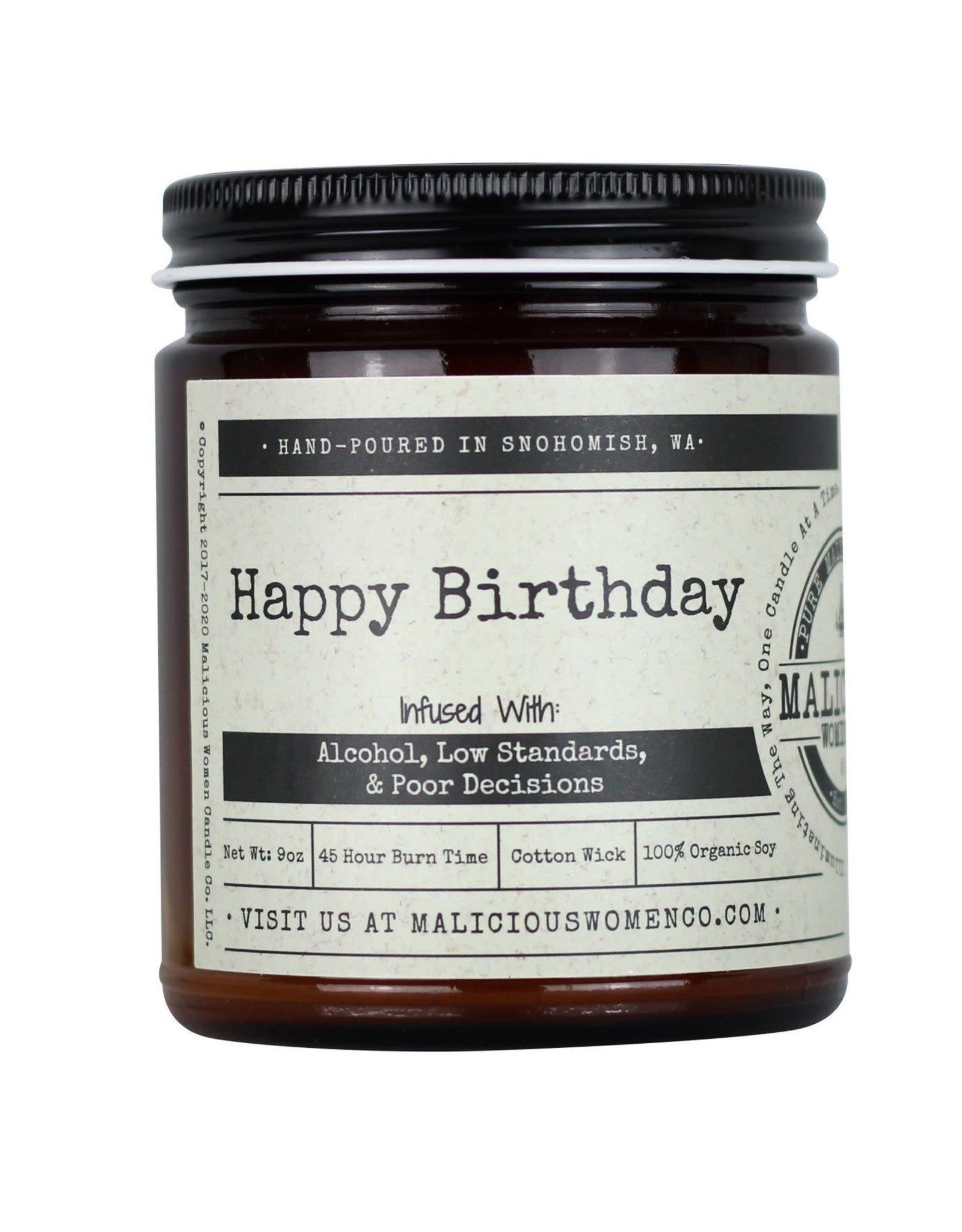 Malicious Women Candle Co. Happy Birthday Candle