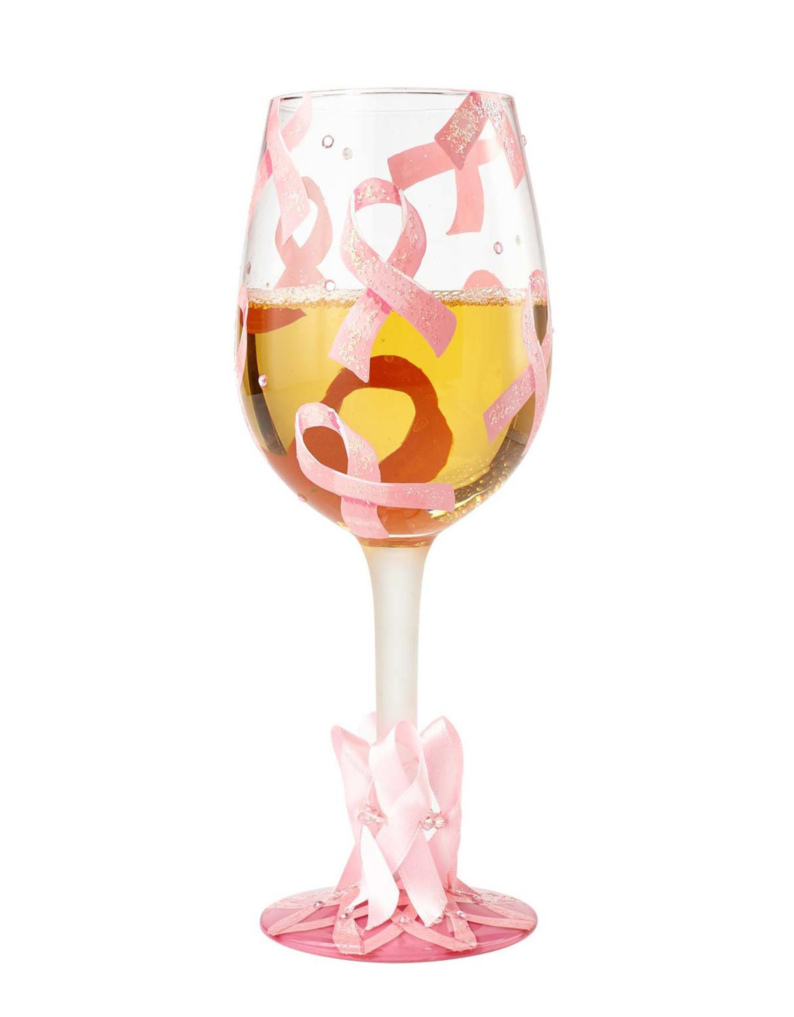 Lolita Lolita Pink Ribbon Wine Glass