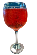 Pretty Strong Wine Glass Candle