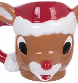 Rudolph Sculpted Mug